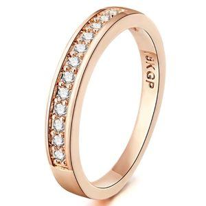 18K Rose Gold Pave Diamond Band Wedding Ring